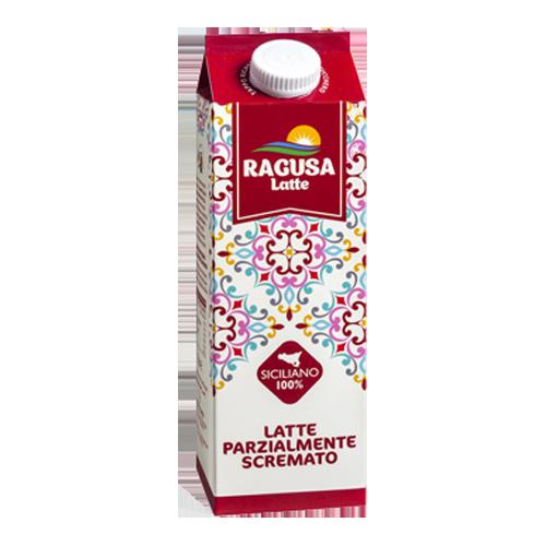 Latte pastorizzato parzialmente scremato Ragusa Latte