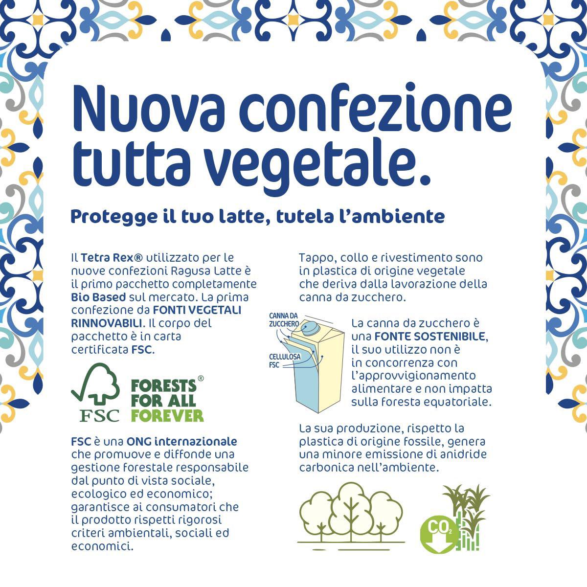 Confezione vegetale Ragusa Latte